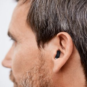 Man wearing Invisible In-Canal Hearing Aid